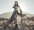 Flower dress by Oscar Olivo